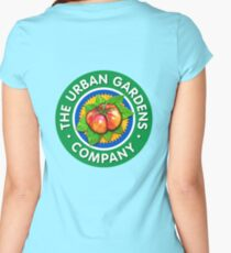 Color Logo for UGC, by Urban Gardens Women's Fitted Scoop T-Shirt