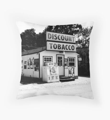 Discount Tobacco Baxter Tennessee  Throw Pillow