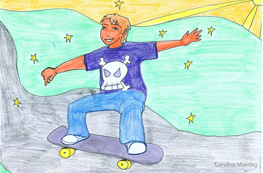 Skateboarder kid by Caroline Munday