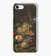 Abraham Mignon - Still Life With Fruit, Fish, And A Nest 1675 iPhone Case/Skin