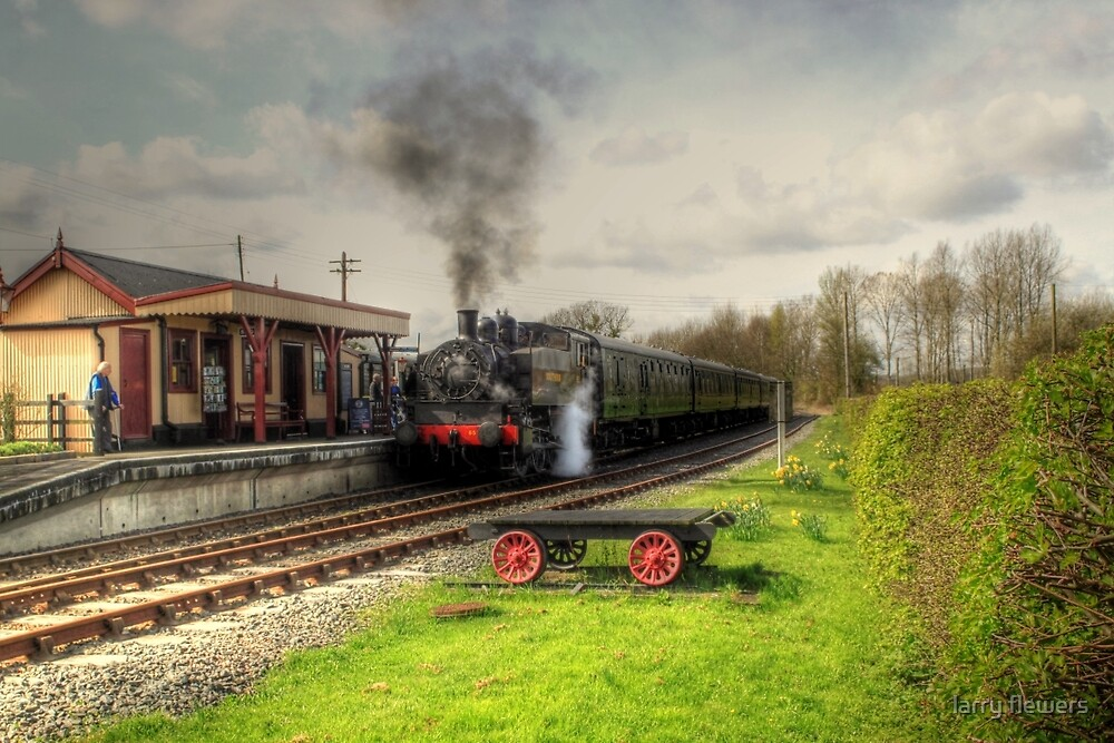 About to leave Bodiam Station  by larry flewers