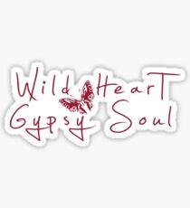 Wild Heart, Gypsy Soul - Boho Tribal Butterfly Sticker