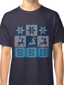 Blue Knitted Pattern 2 Classic T-Shirt