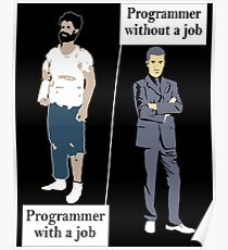 Programmer With A Job Poster