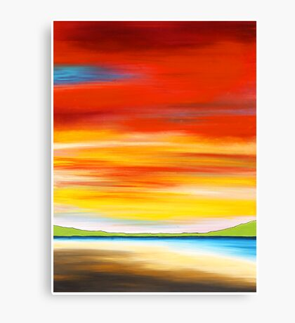 red sky at Palm beach, northern beaches, Sydney. Australia Canvas Print