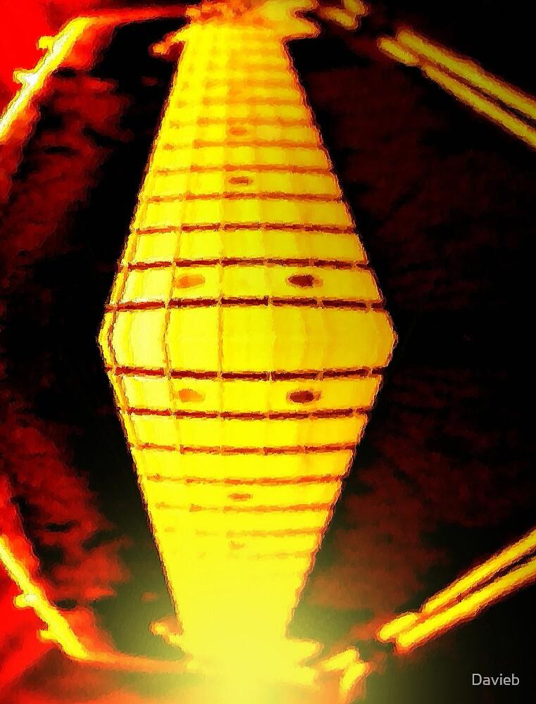 Mirrored Guitar by Davieb