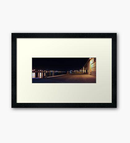 Fremantle Docks At Night Panorama  Framed Print