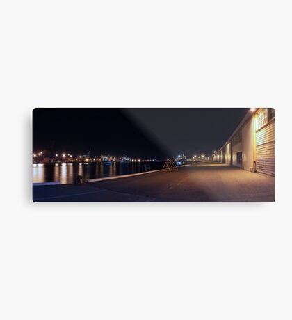 Fremantle Docks At Night Panorama  Metal Print
