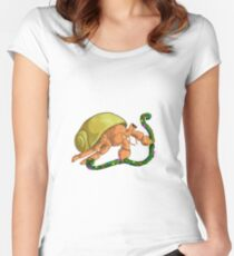 Christmas Hermit Women's Fitted Scoop T-Shirt