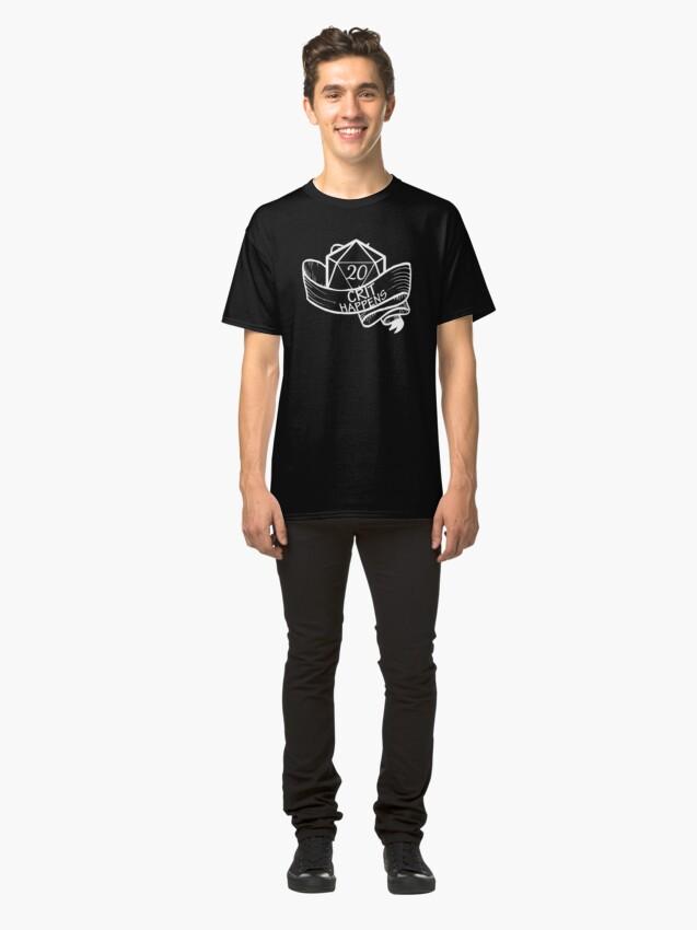 Vista alternativa de Camiseta clásica Crit Happens