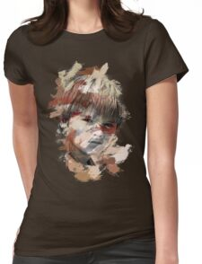 Paint Stroked Portrait of Anakin Womens Fitted T-Shirt