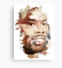 Paint-Stroked Portrait of Actor and Comedian, Chris Rock Metal Print