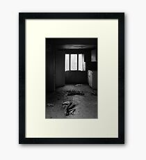 24.3.2017: Death in Abandoned House Framed Print
