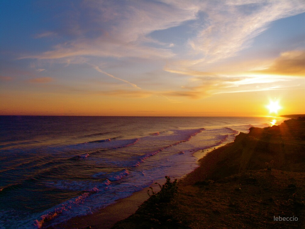 Sunset in Montauk by lebeccio