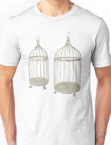 Gold Bird Cage Unisex T-Shirt