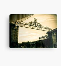Golden Shankly Gates Metal Print