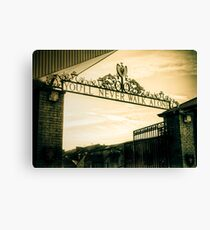 Golden Shankly Gates Canvas Print