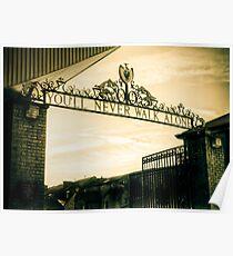 Golden Shankly Gates Poster