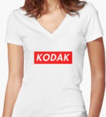 supreme kodak Women's Fitted V-Neck T-Shirt