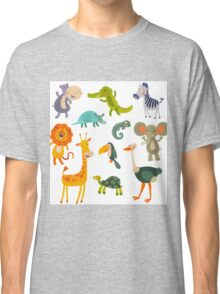 Funny Collection Hand Drawing Animals Classic T-Shirt