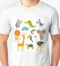 Funny Collection Hand Drawing Animals T-Shirt