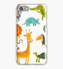 Funny Collection Hand Drawing Animals iPhone Case/Skin