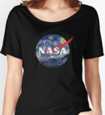 Funny Nasa T-Shirt / Van Gogh Tribute Women's Relaxed Fit T-Shirt