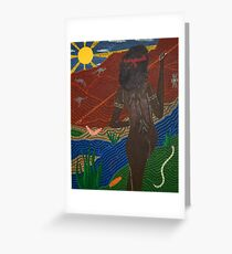 Hunting outback Greeting Card