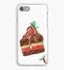 Strawberry & Chocolate Watercolor iPhone Case/Skin