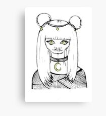 Pastel goth portrait  Canvas Print