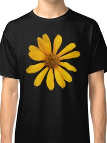 Yellow Flower Petals with Black Background Classic T-Shirt