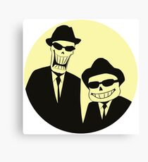 Bones Brothers - Undertale/Blues Brothers Mashup - w/o Text Canvas Print