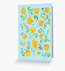 Sunny flowers 2 Greeting Card