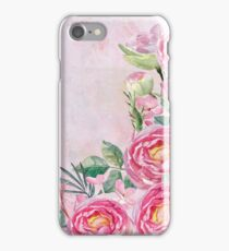 Floral Spring Greatings - Pastell Flowers and Roses iPhone Case/Skin