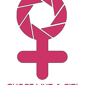 Shoot Like A Girl Logo by littleredplanet