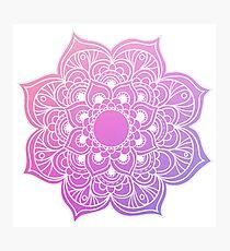 Mandala Pink Purple Photographic Print