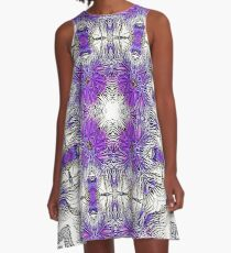 Palm Leaves Abstract Art Pattern  A-Line Dress
