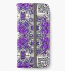 Palm Leaves Abstract Art Pattern  iPhone Wallet/Case/Skin