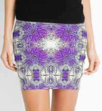 Palm Leaves Abstract Art Pattern  Mini Skirt