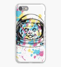 Color Splatter Space Cat iPhone Case/Skin