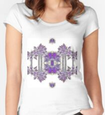 Passionately Purple Palm Leaves  Women's Fitted Scoop T-Shirt