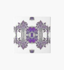 Passionately Purple Palm Leaves  Art Board