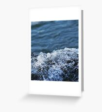 Water Bubbles Greeting Card