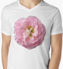 Pink Flower Petals with Green Background T-Shirt