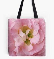 Pink Flower Petals with Green Background Tote Bag