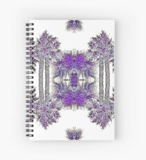 Passionately Purple Palm Leaves  Spiral Notebook