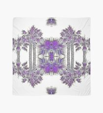 Passionately Purple Palm Leaves  Scarf