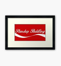 Enjoy Standup Paddling Framed Print
