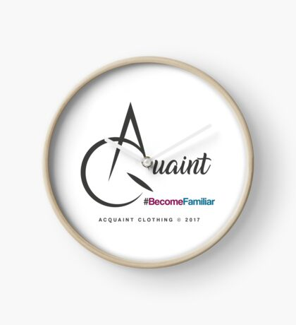 Acquaint Clothing Logo Dark Clock