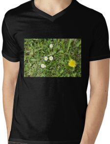 Grass With Daisies Dandelion and Weeds Mens V-Neck T-Shirt
